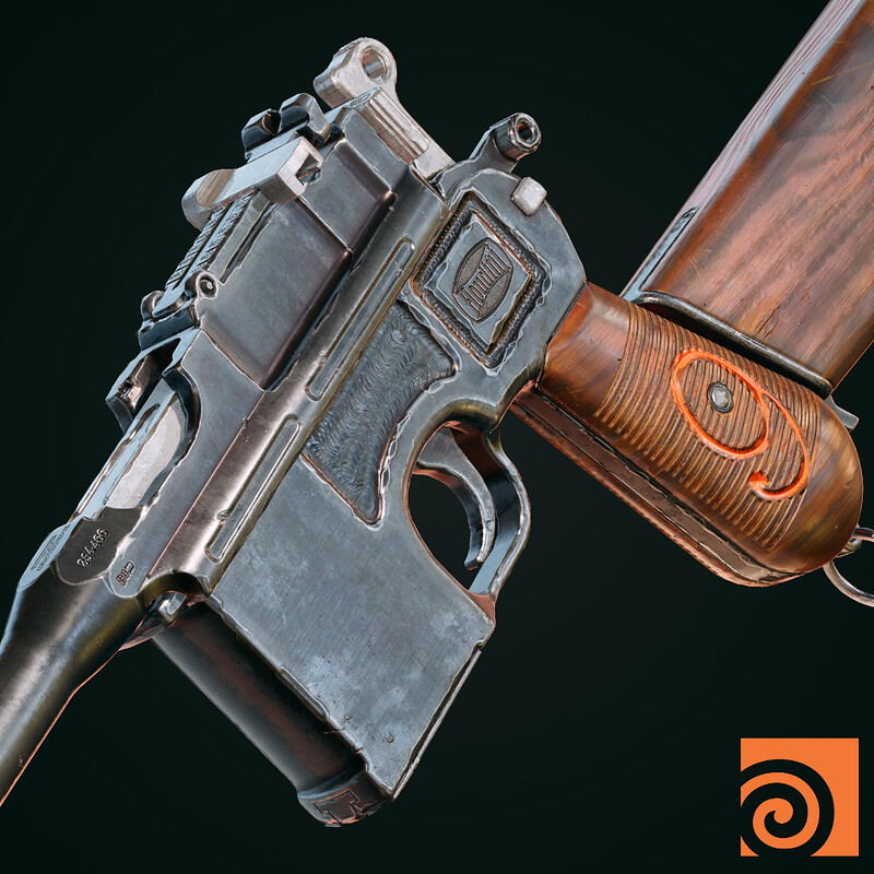 Mauser C96 with Houdini