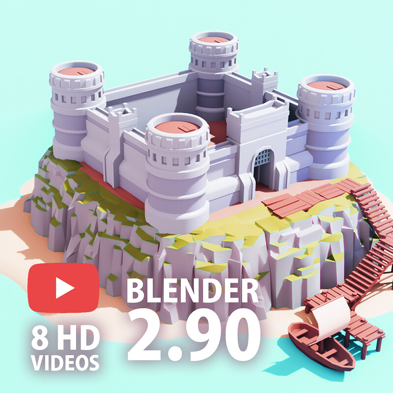 [Blender Speed Art] Low Poly ISLAND Blender 2.90 | Blender 2.90 to Unity | LowPoly Game Art