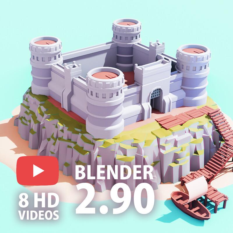 [Blender Speed Art] Low Poly ISLAND Blender 2.90   Blender 2.90 to Unity   LowPoly Game Art