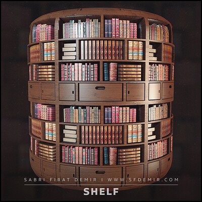 PBR Book Shelf Material - %100 Substance Designer