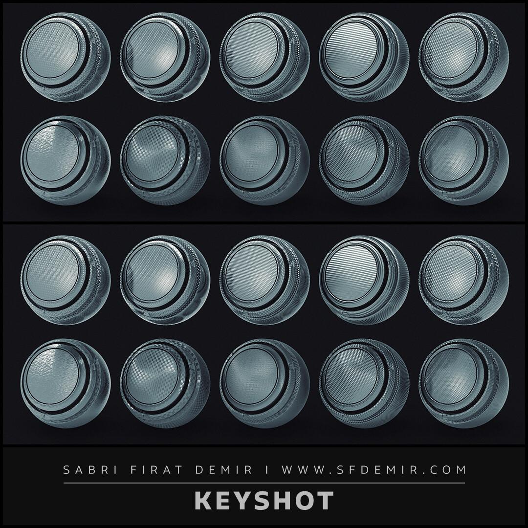 10 Luxion Keyshot Metal Material Pack