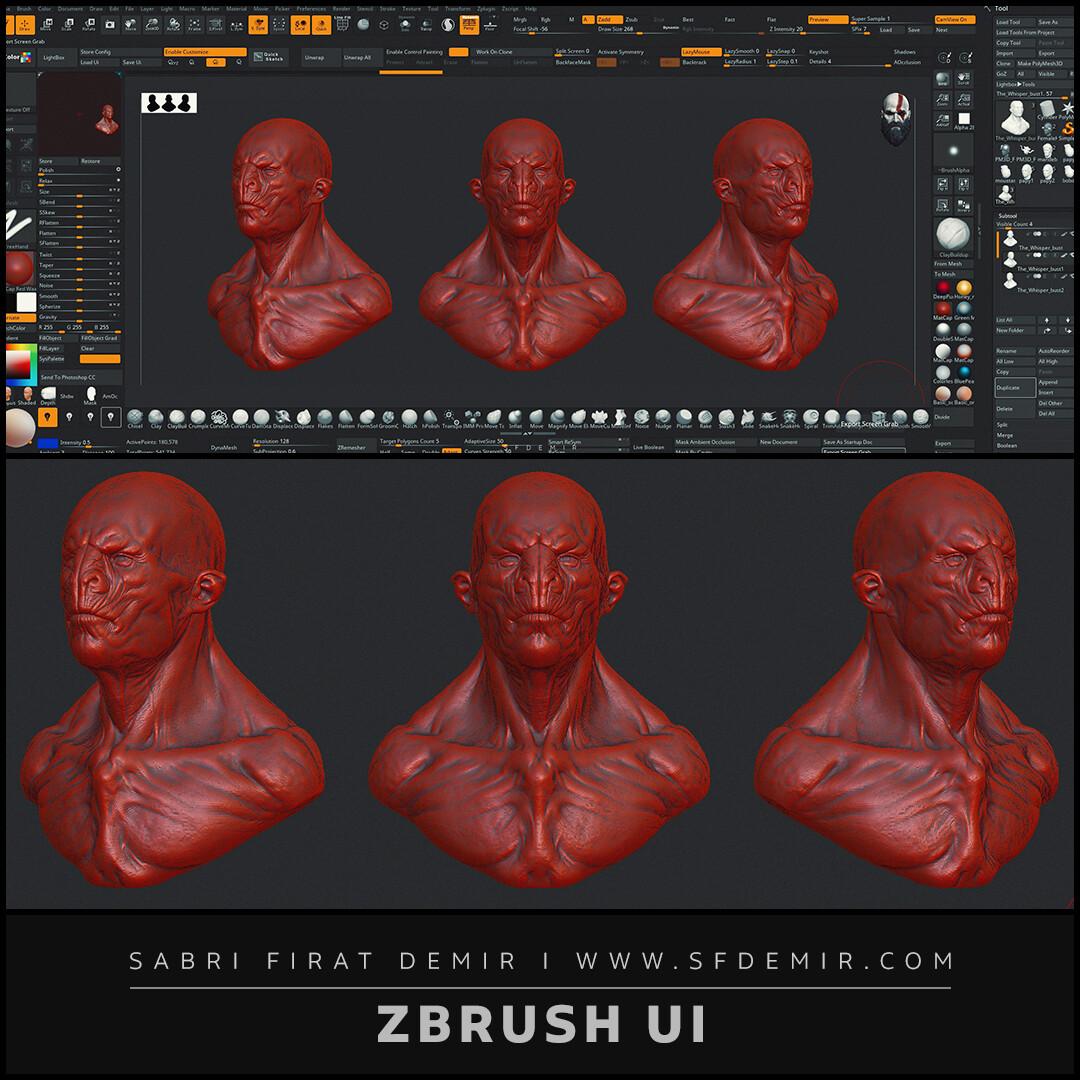 Ultrawide ZBrush UI Design