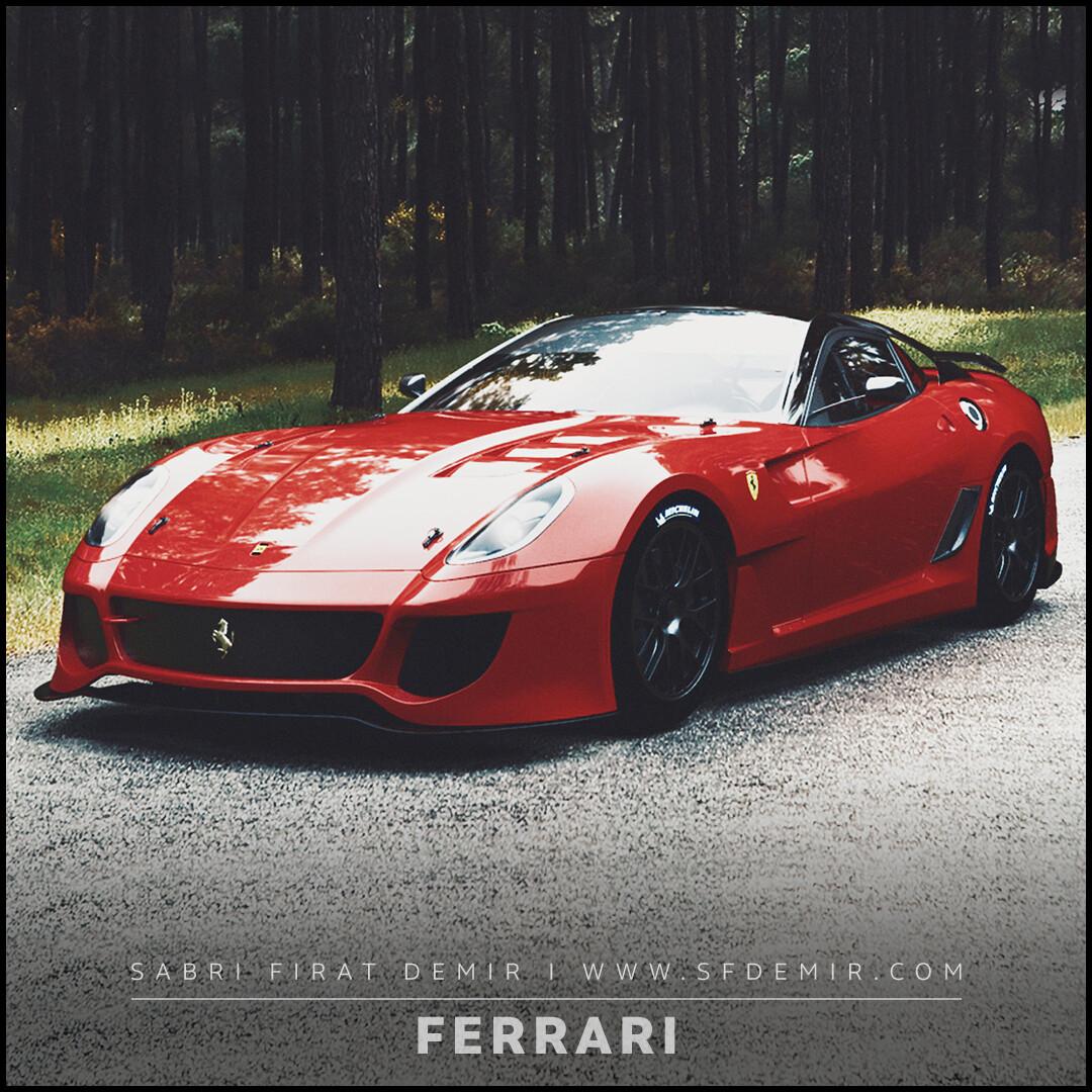 Ferrari 599 Forest Road Concept Design