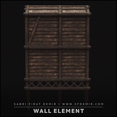 Medieval Wall Element 3D Model