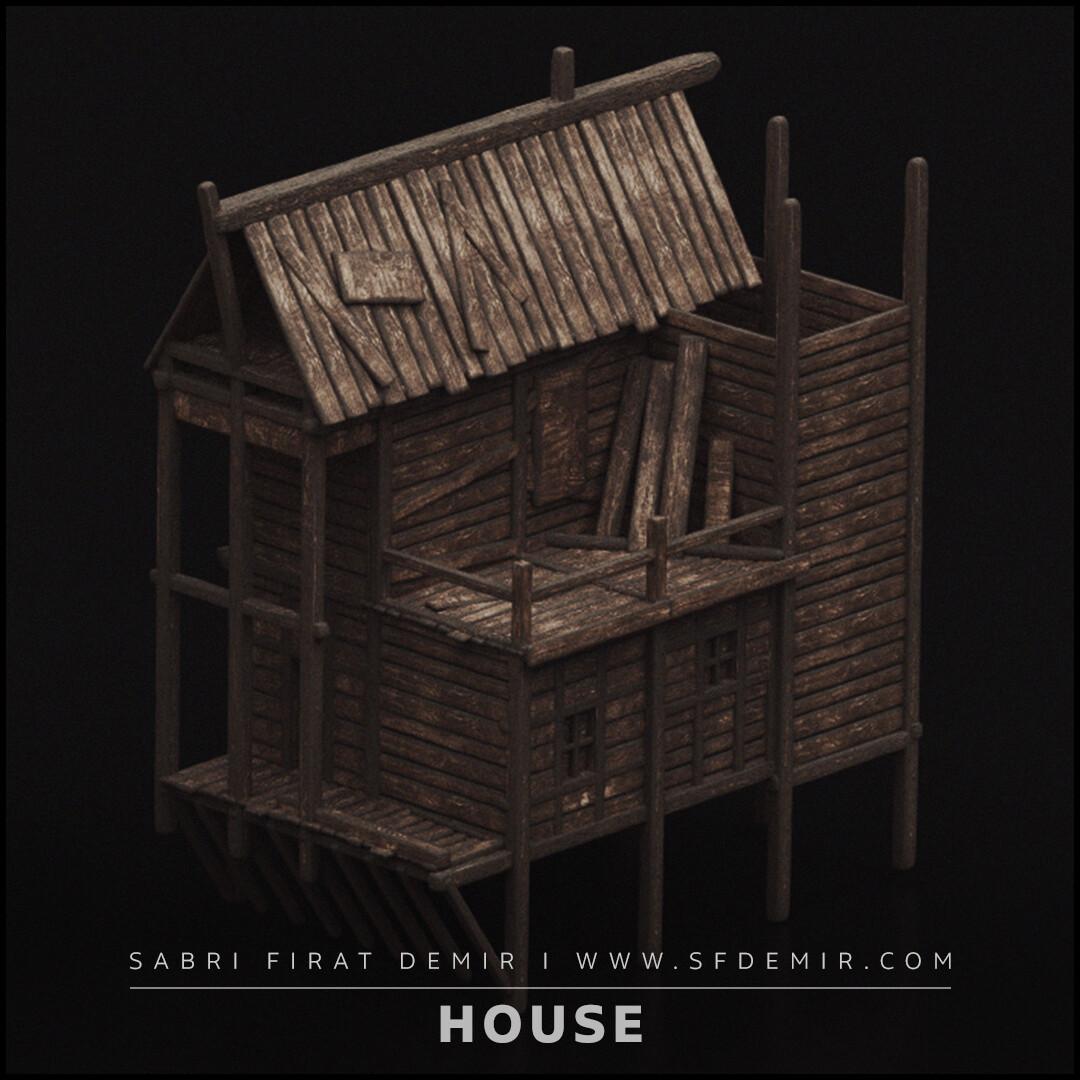 Medieval Wooden Dock Building 3D Model