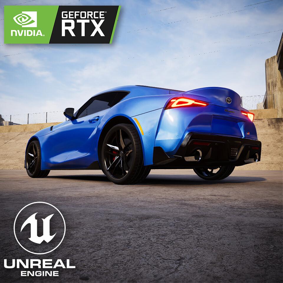 Unreal Engine Ray Tracing - Toyota Supra