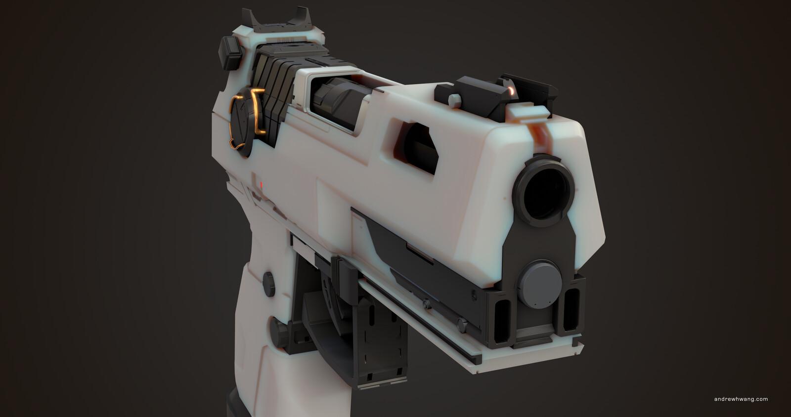 Gearbox Gun - Learning Blender