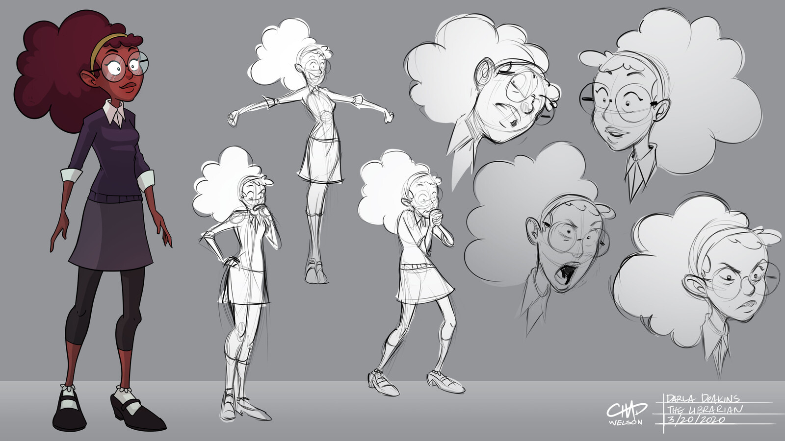Character Design: Darla Deakins and the Dewey Decimal System
