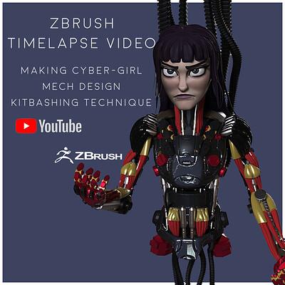 Cyber Girl (Making Of Mech design & Kitbashing)