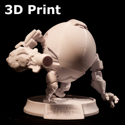Diabotical eggbot - Personal project , 3D-print