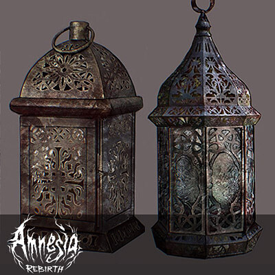 Amnesia Rebirth Props: Various Furniture Lamps