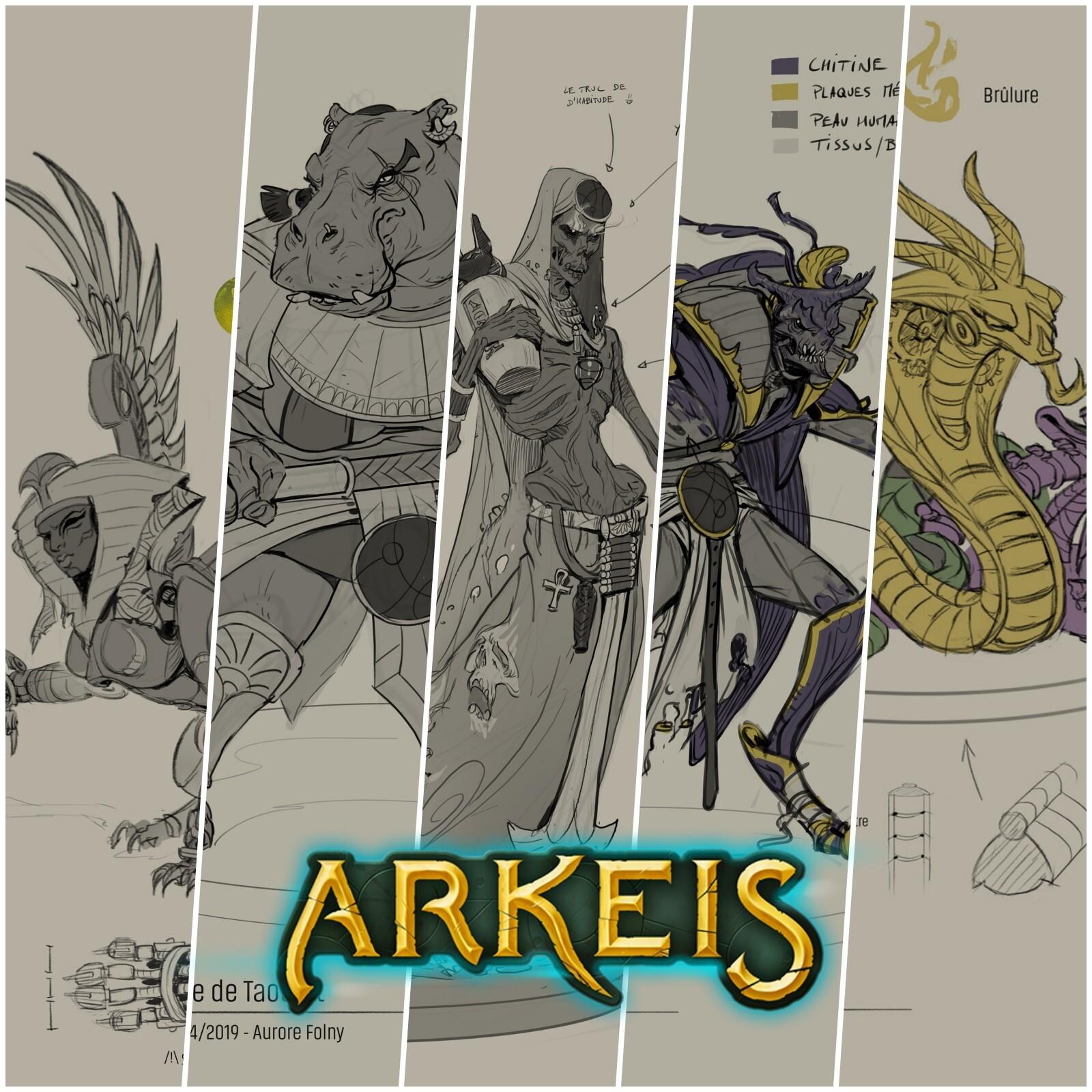 Arkeis : Concepts des monstres/ennemis