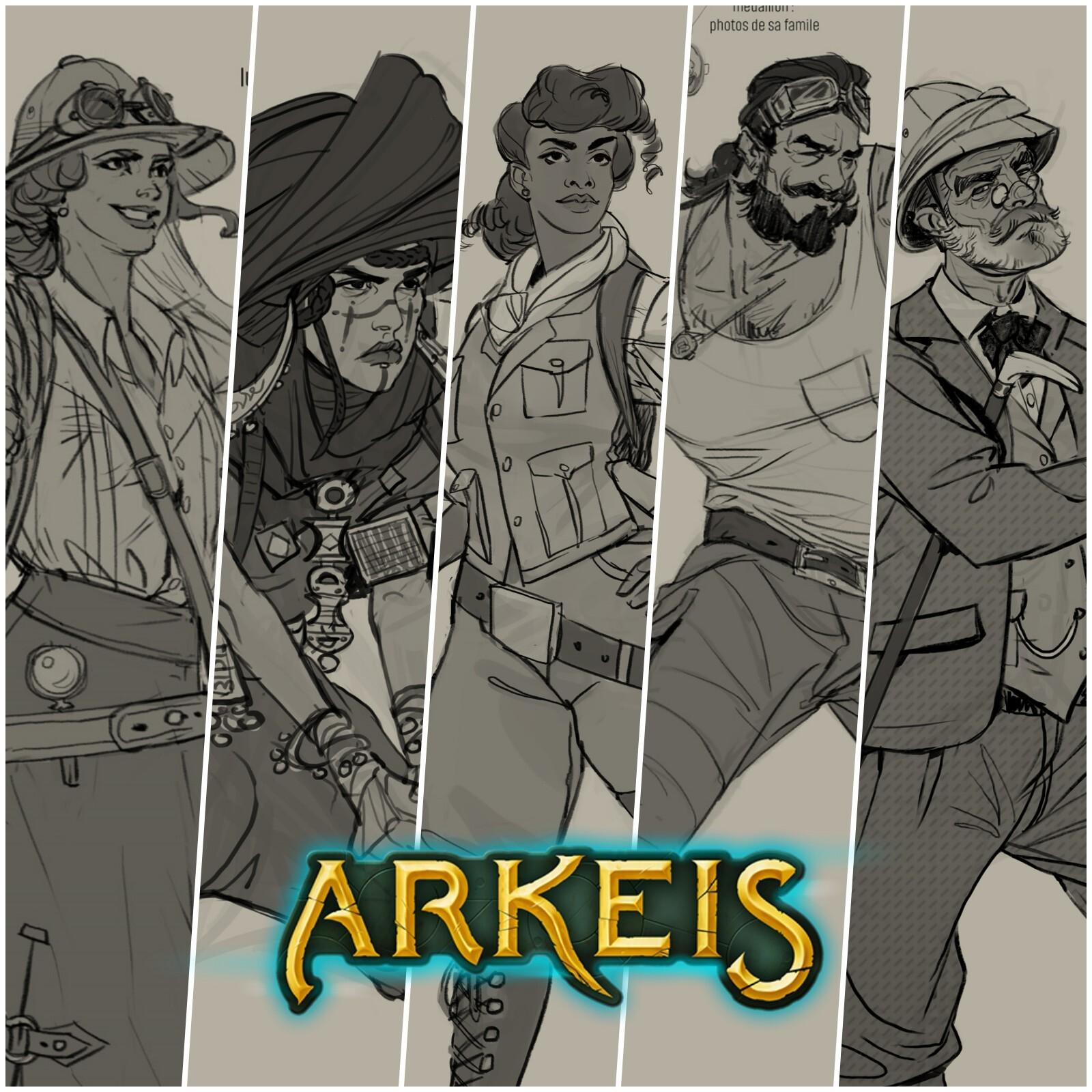 Arkeis : Concepts des héros