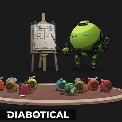 Teacherbot - Diabotical ingame art