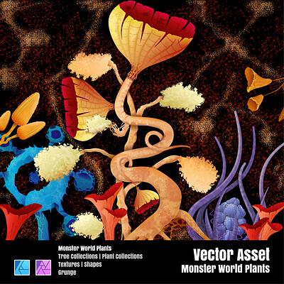 Stuart ruecroft stuart ruecroft monster world vector assets plants thumbnail 01 0 25x