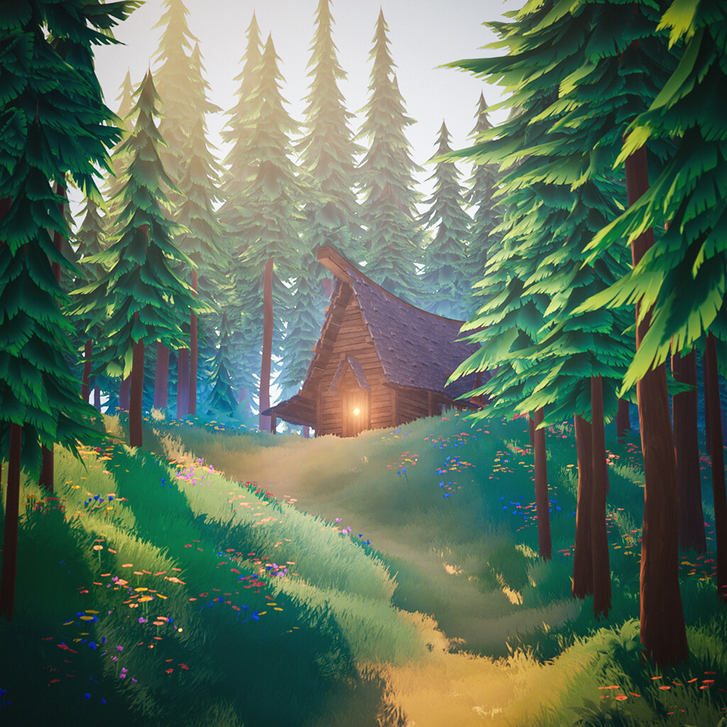 Hunter's Lodge - Stylized Forest UE4