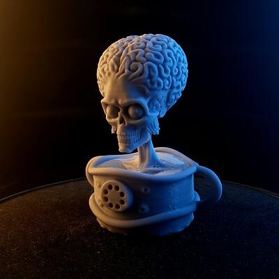 Mars Attacks Fan - Art 3D Print