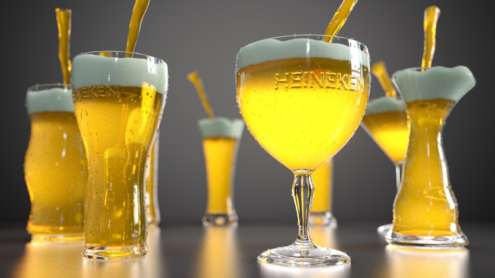 Houdini Procedural Beer Pouring System | 2019