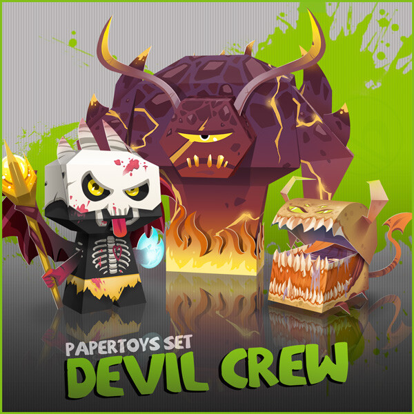 The Devil Crew - Papertoy