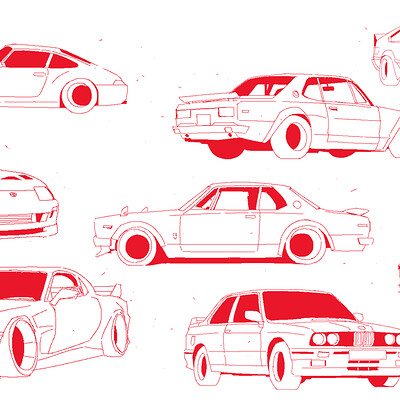 Tuner Car Sketches