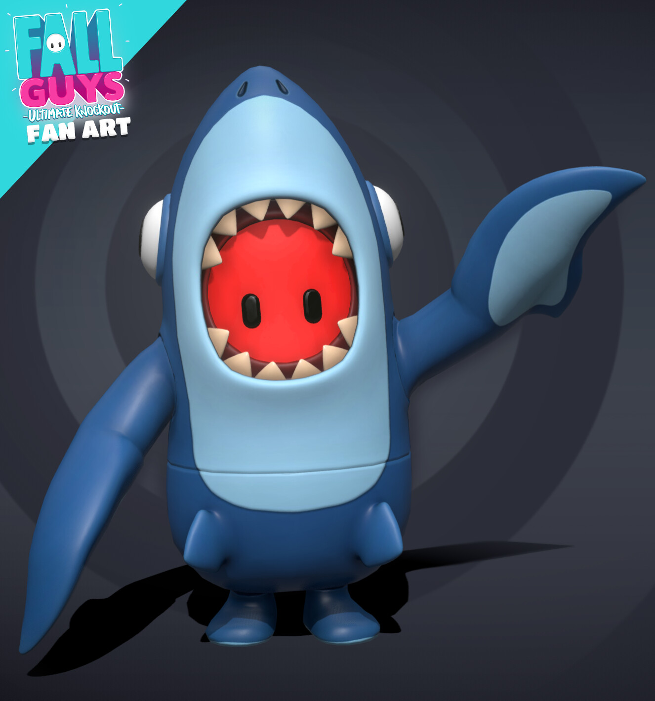 Fall Guys Shark Costume