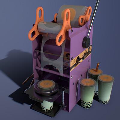 Bubble tea sealing machine