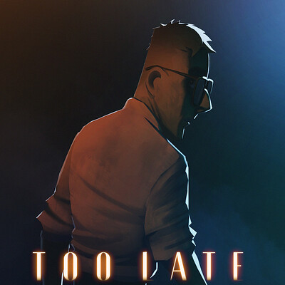 "Key Art for Animated Short Thriller ""Too Late"" (2020)"