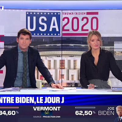 BFMTV / USA Elections 2020 RA and Tv Show stage