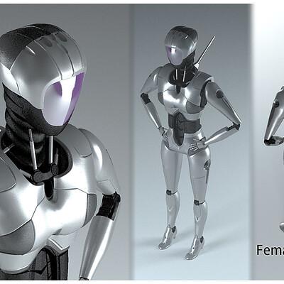 Sandeep choudhary maxartist sandeep choudhary maxartist female robot 2 3d model max obj 3ds fbx dxf stl