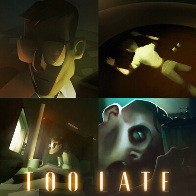 "Color Keys and Mood Boards for Animated Short Film ""Too Late"" (2020)"