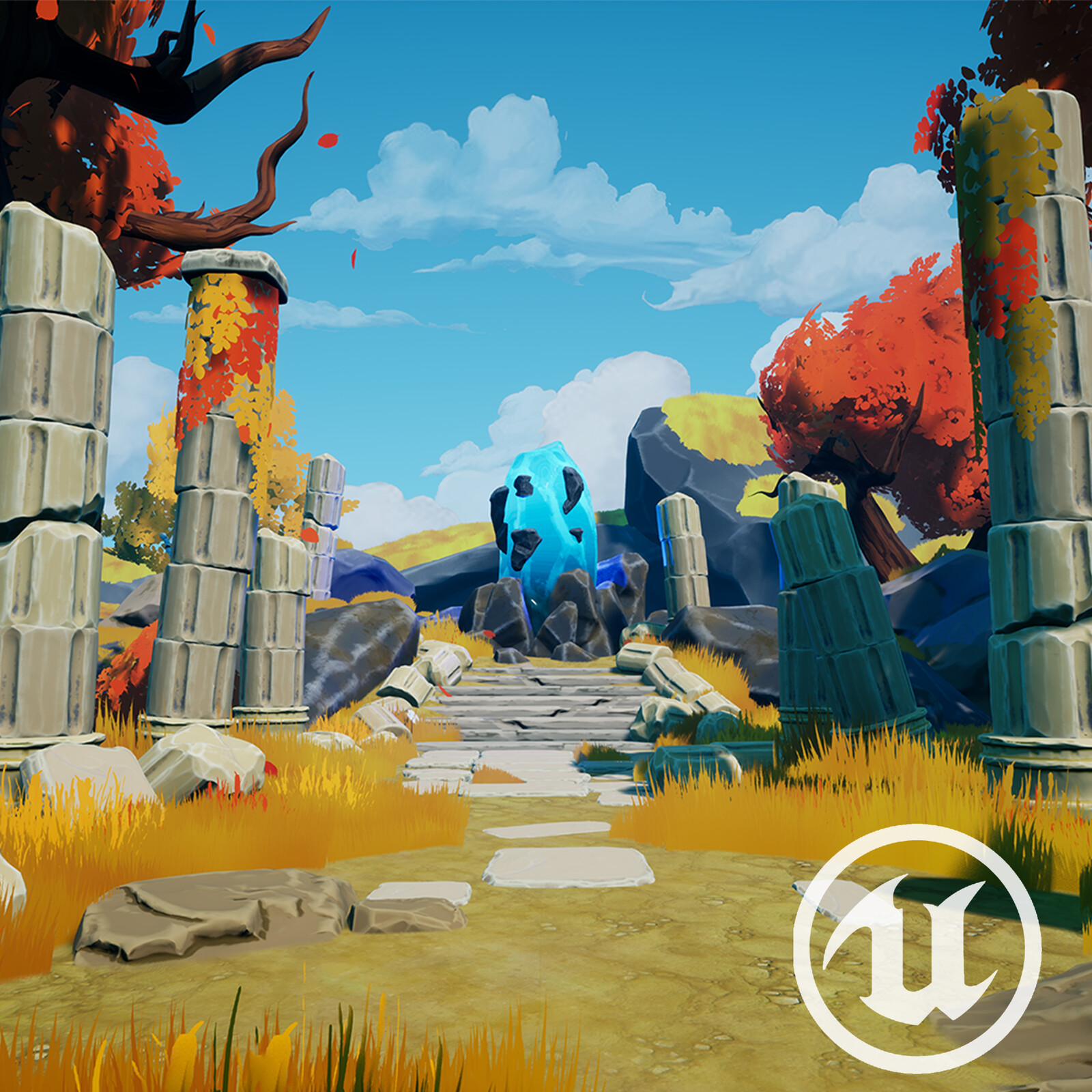 Stylised Ruins Environment (UE4)