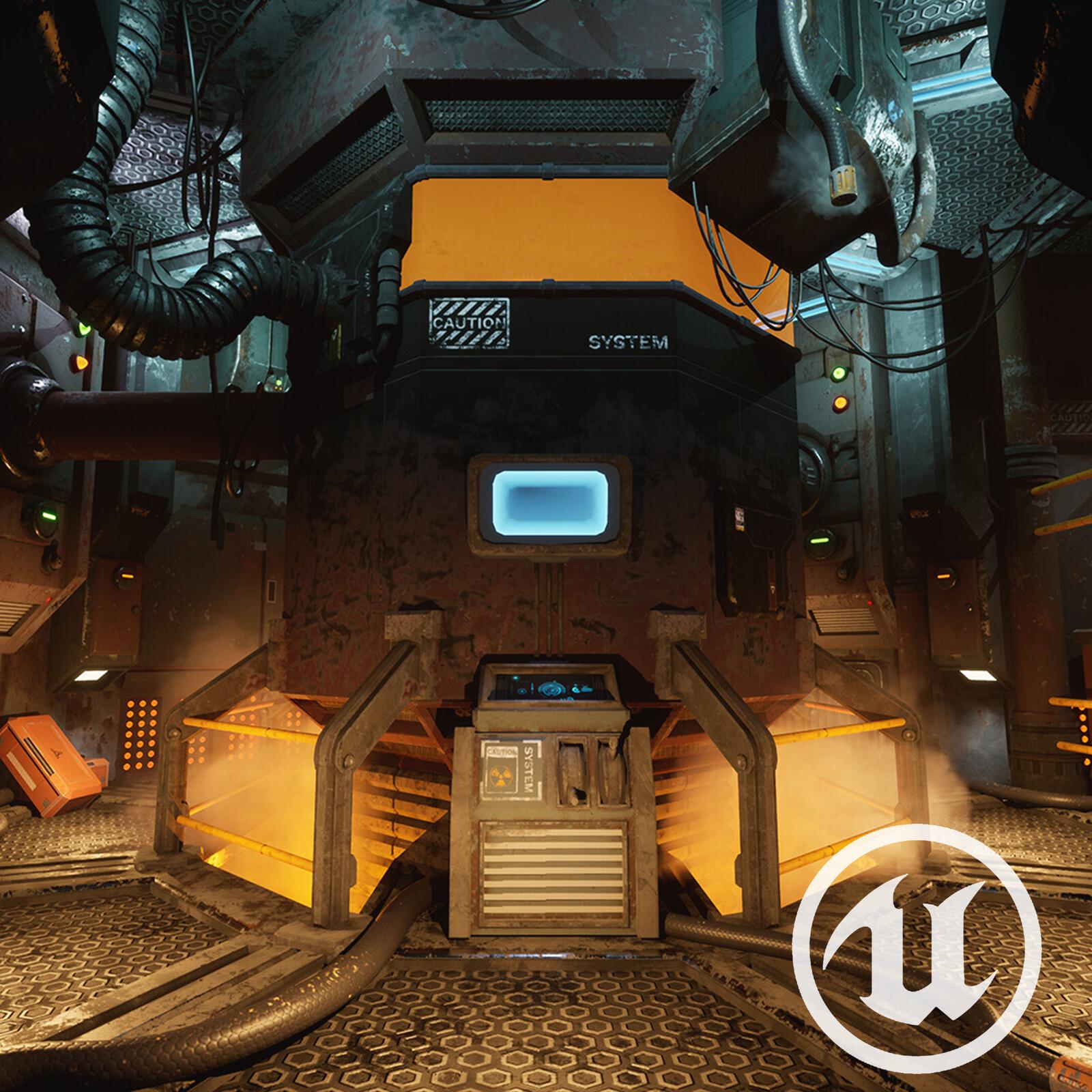 Engine Room - UE4 Environment