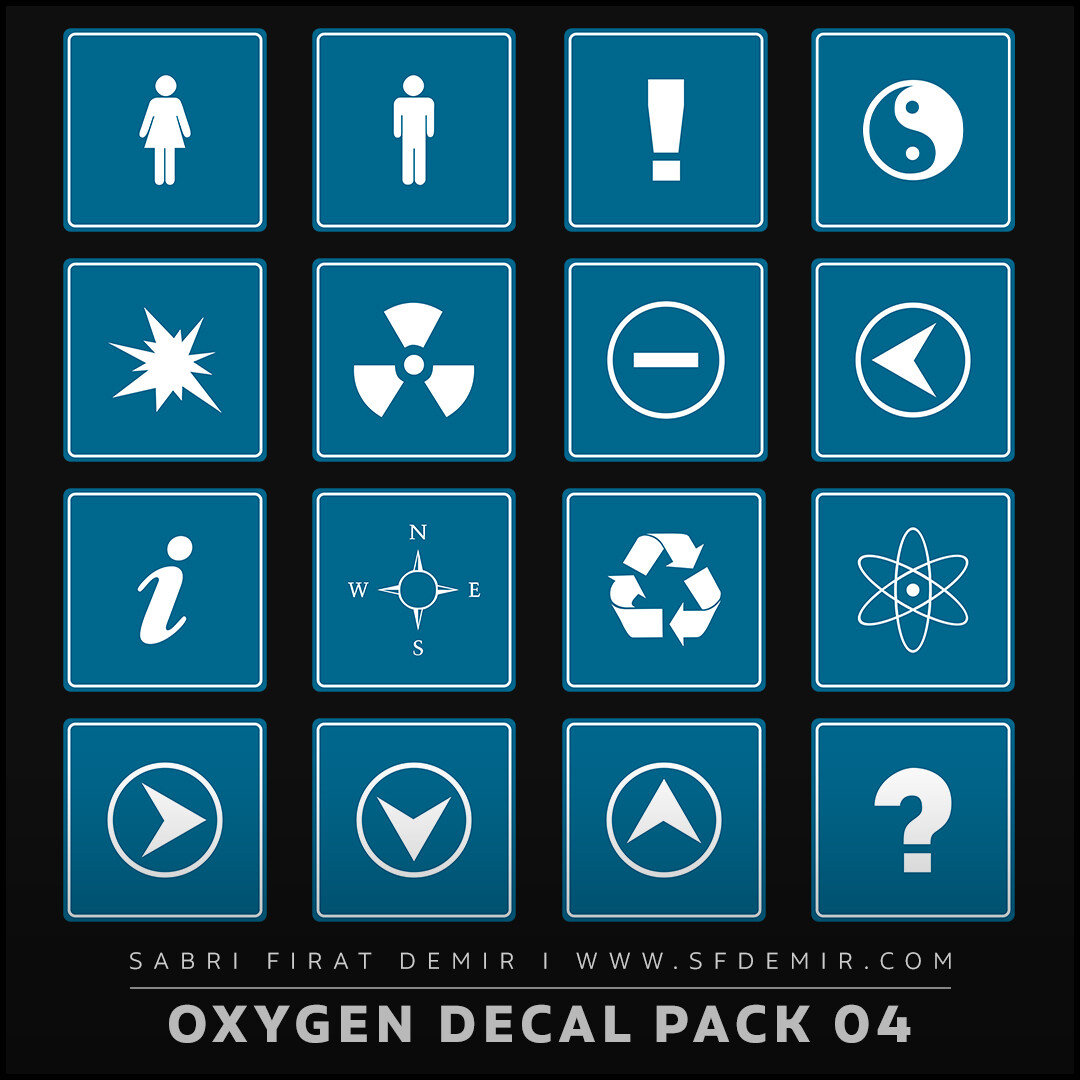Oxygen Alpha - Decal Map Series 04