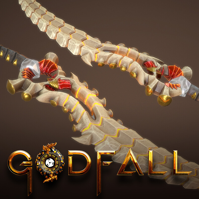 GODFALL DUAL BLADE BLACKHEART