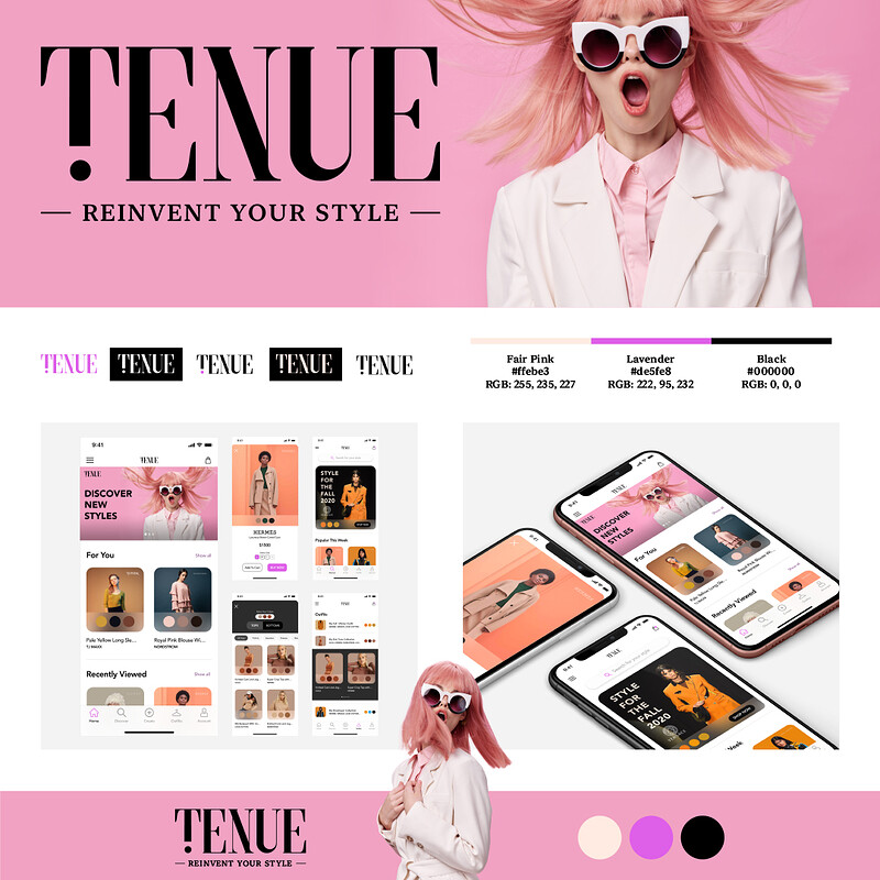 TENUE App Design | Mobile UI Design