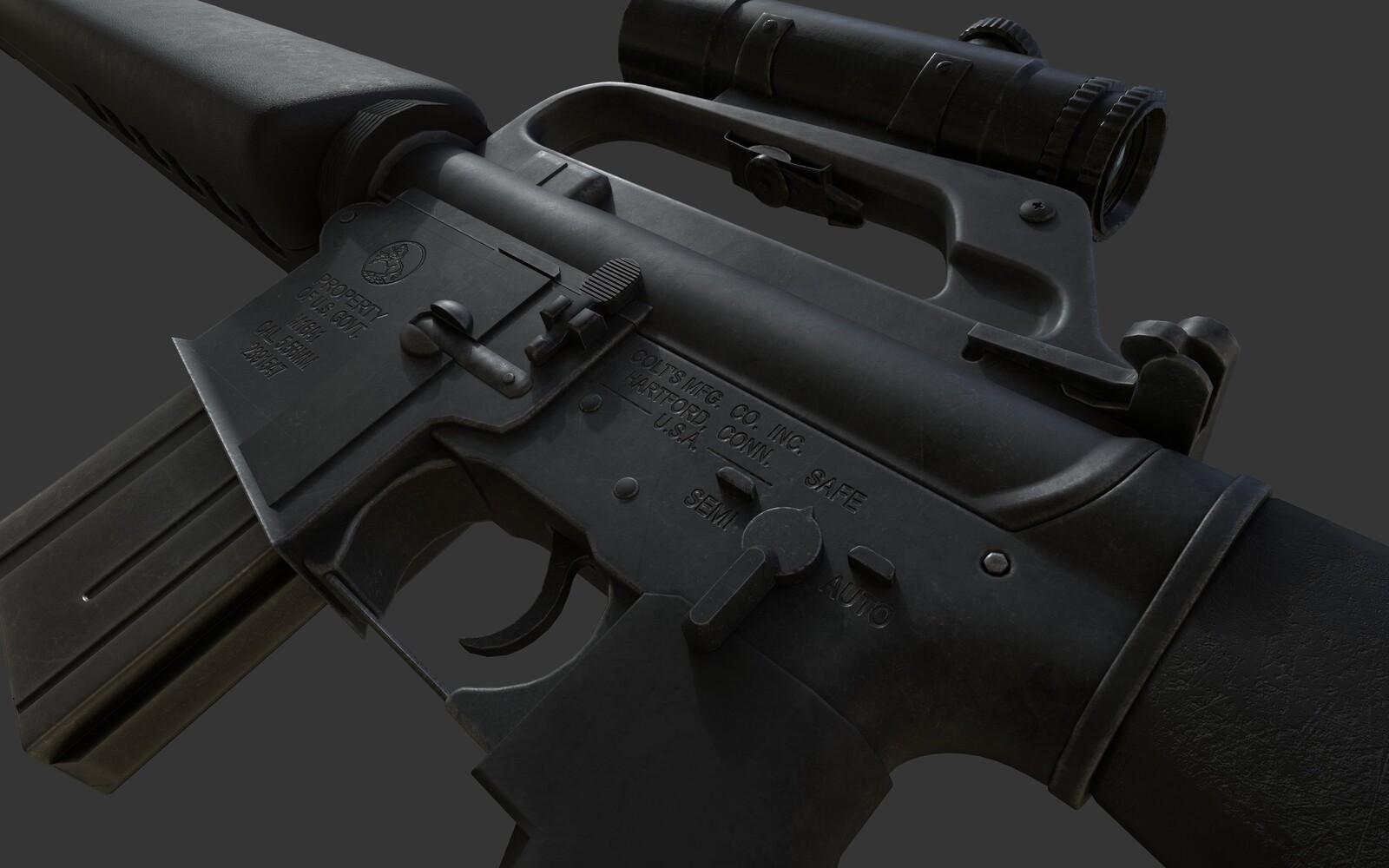 M16 texture work