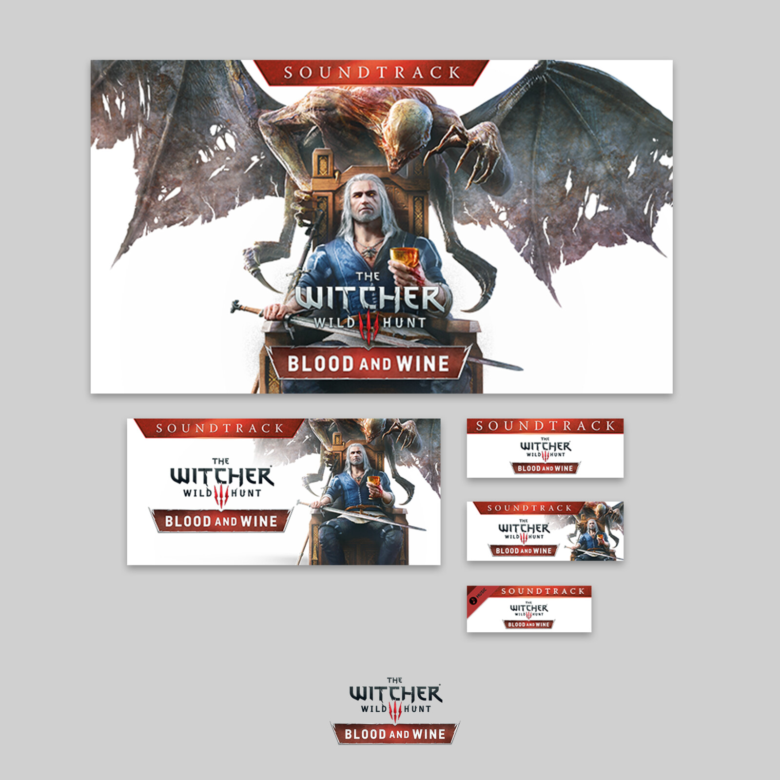 CD Projekt Red - Steam Soundtrack Banners