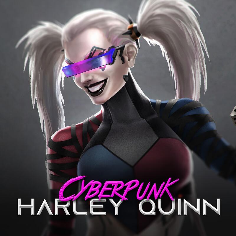 Cyberpunk Harley Quinn