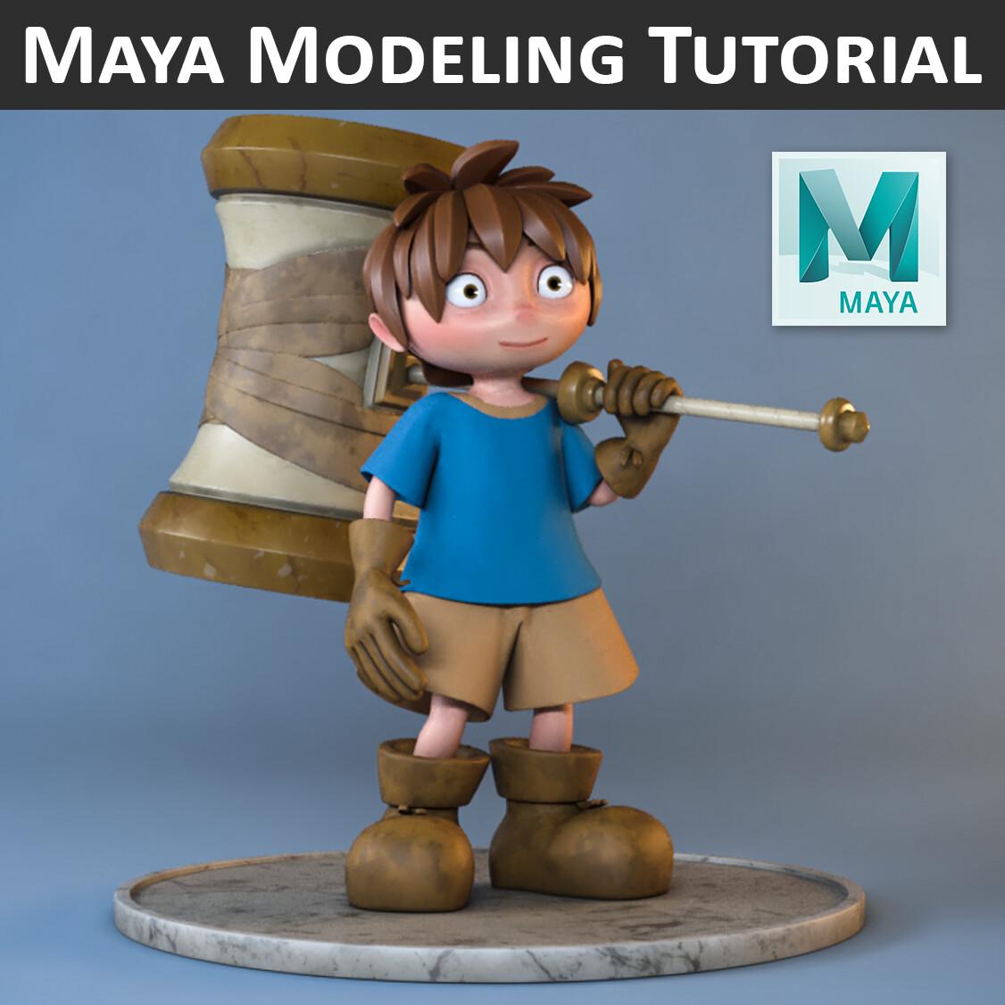 Maya Modeling Tutorial: Hammer Boy