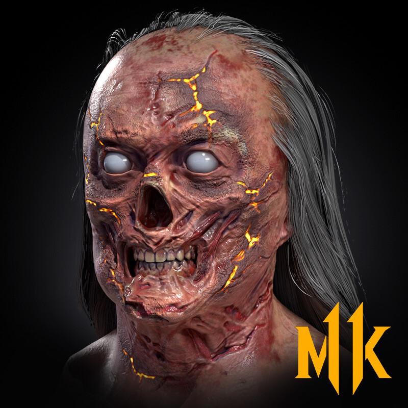 Shang Tsung Burned Face (Mortal Kombat 11 Aftermath)