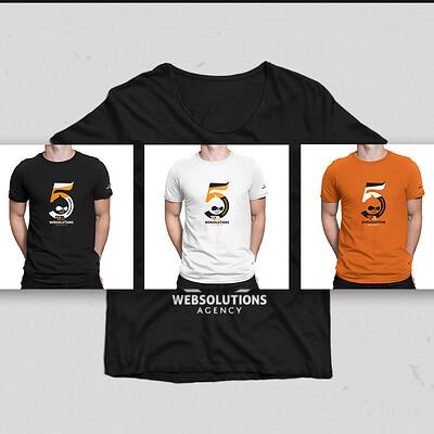 T-shirts design for 5th company anniversary V3