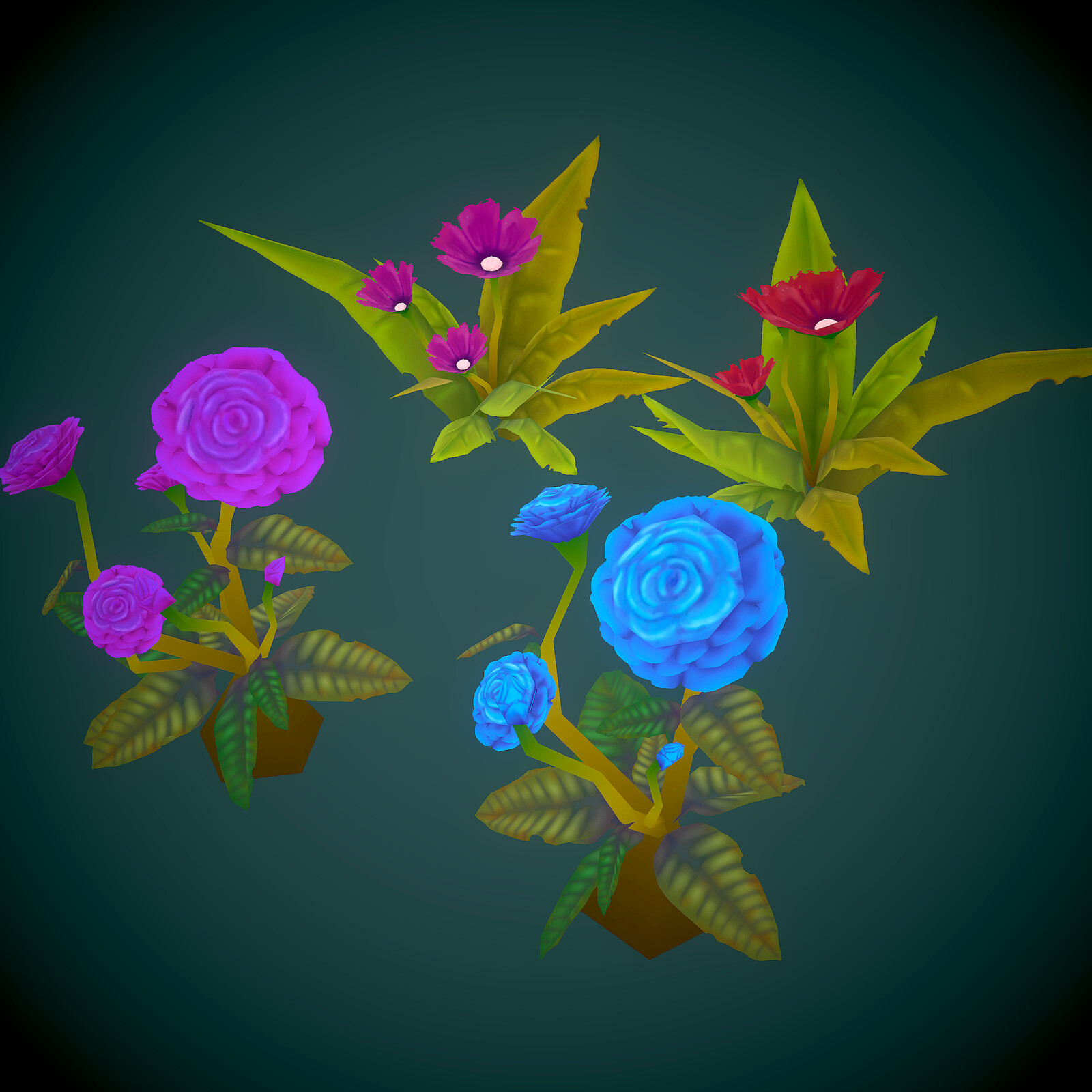Handpainted Flowers asset pack