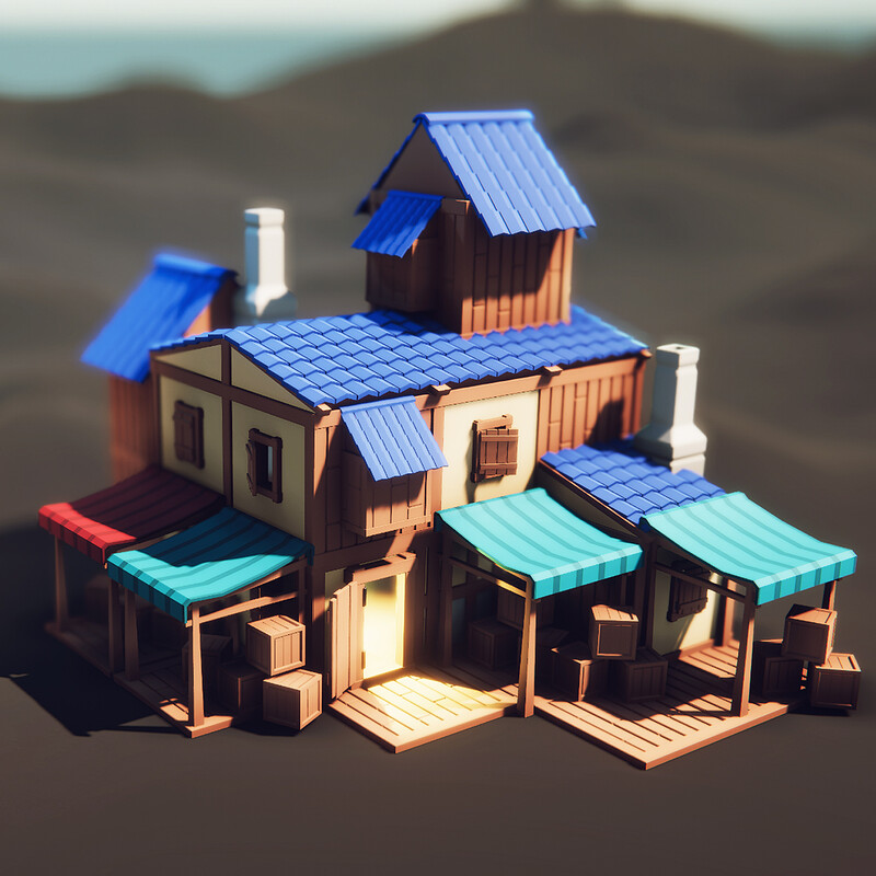 Updated ( 3 new videos ) - MODULAR Low Poly HOUSE (Speed Modeling) Blender to Unity | 3d Game Asset