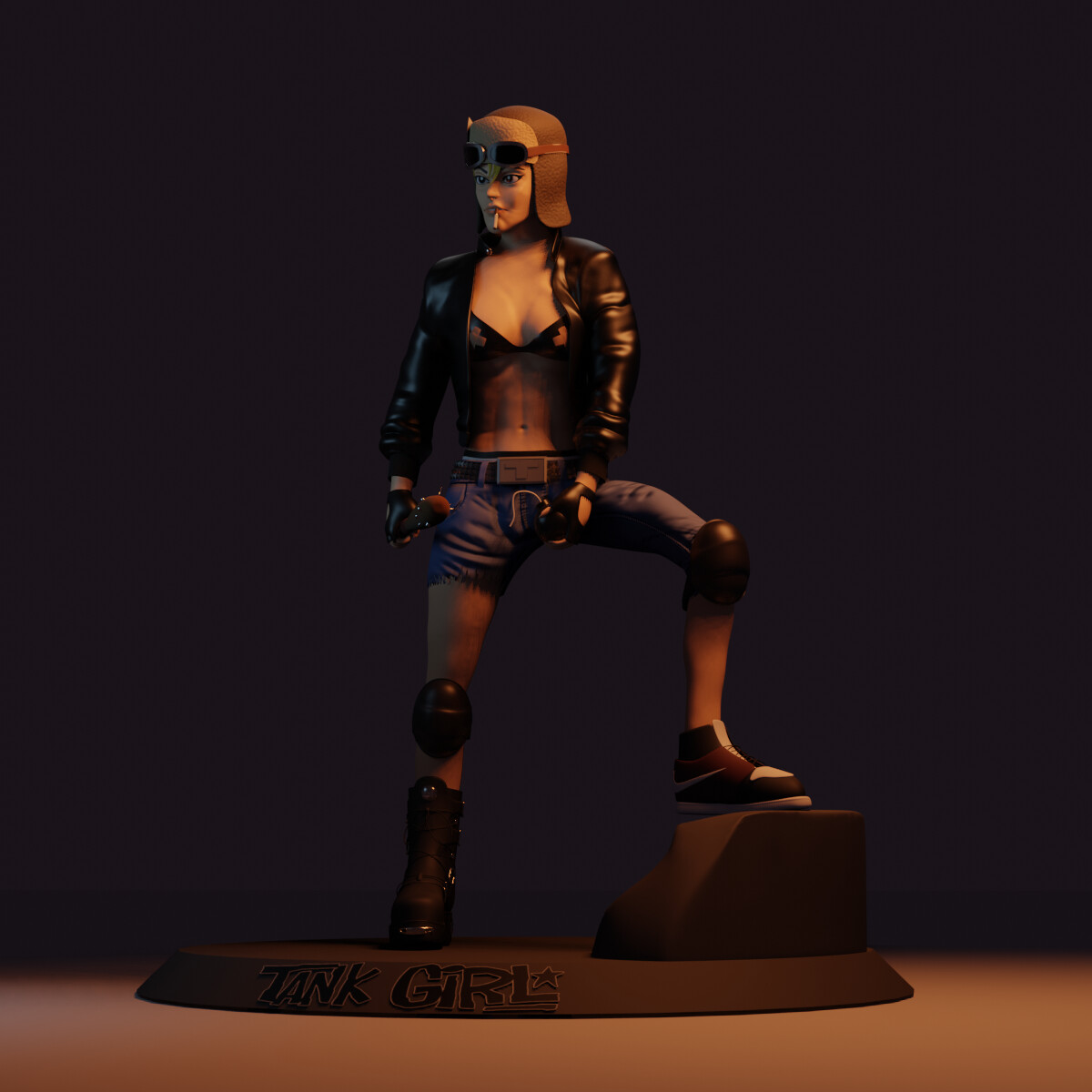 Tank Girl Statue Concept