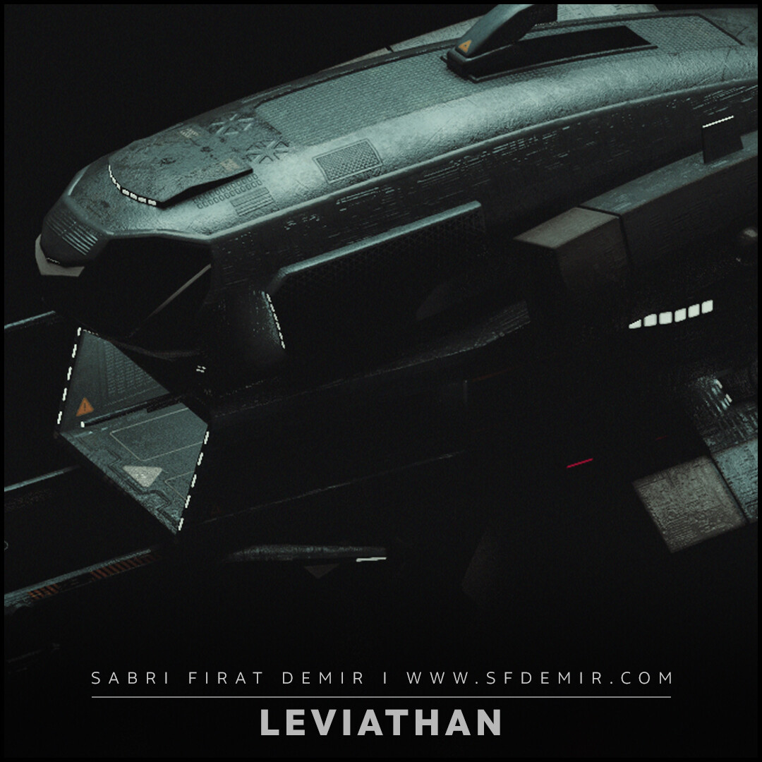 Leviathan Spaceship Low Polygon - PBR