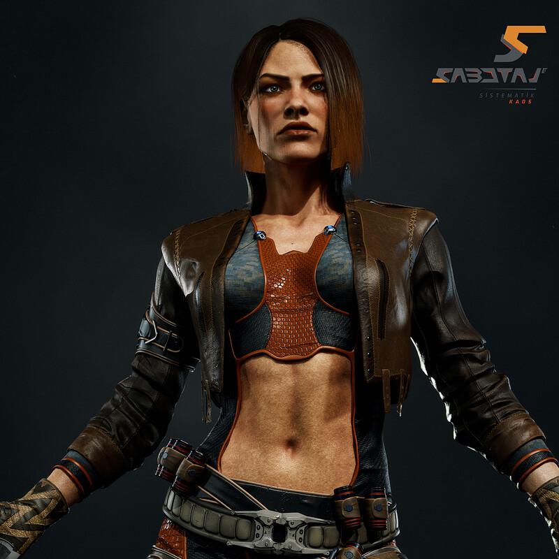 Victoria Character Art for SABOTAJ MMO FPS Game