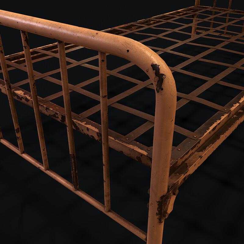 Old Bed Frame - (Horror Corridor)