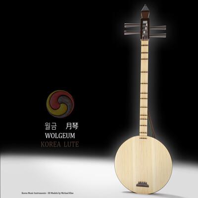 Michael klee michael klee wolgeum korea lute instrument 3d model by michael klee