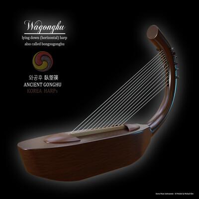 Michael klee michael klee wagonghu korea harp 3d model by michael klee