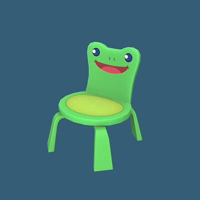 Froggy Chair in Animal Crossing: New Horizons (Fan Art)